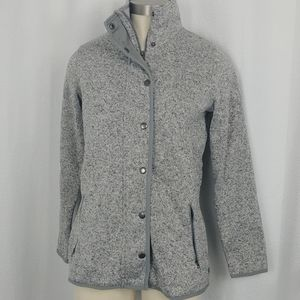 Eddie Bauer gray fleece lined sweater (size PM)